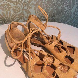 Steve Madden Gladiator Sandals Tie Up Calves